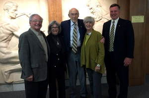 Pictured: Frank Mendicino, Barbara Mendicino, Senator Al Simpson, Ann Simpson, Dean Klint Alexander