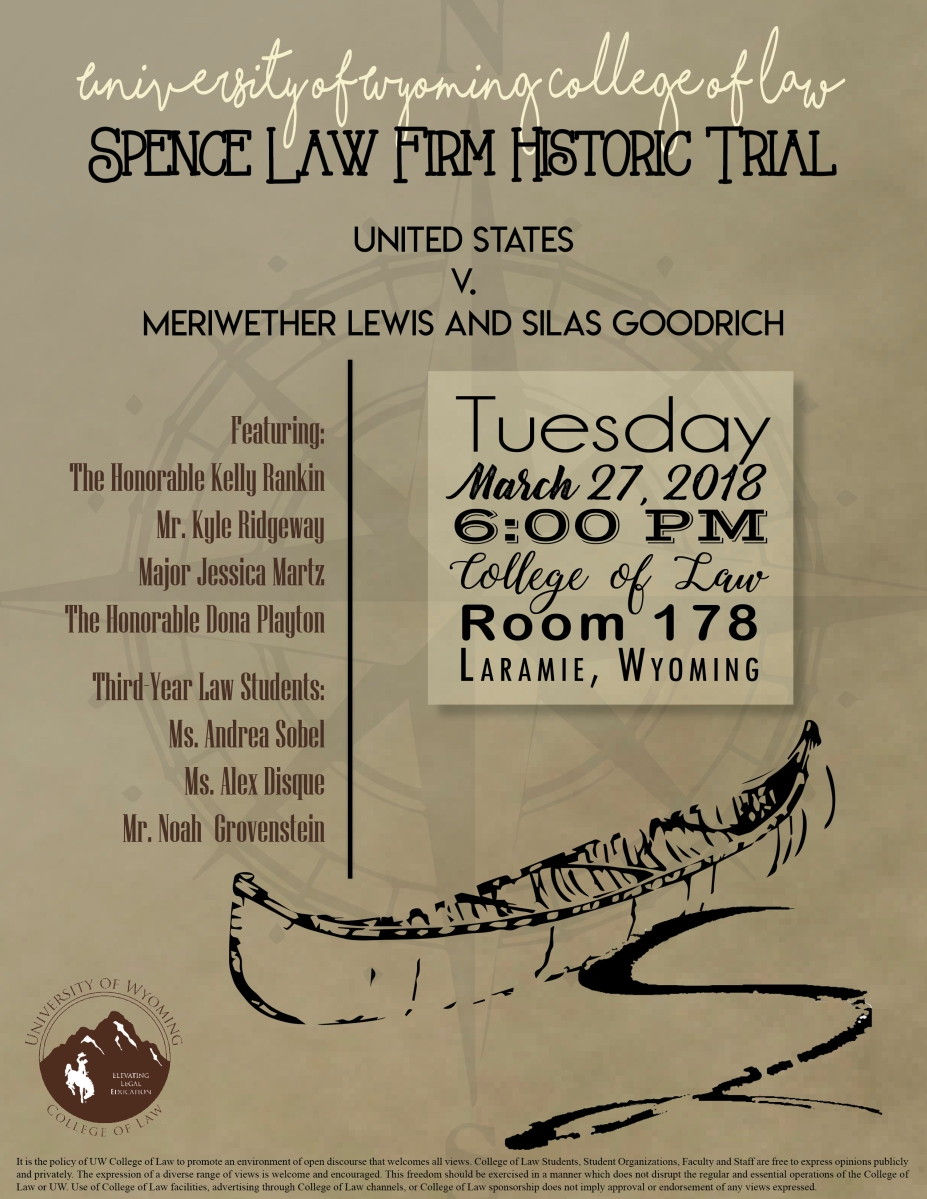 2018 Spence Law Firm Historic Trial University Of