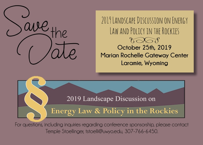 2019 energy conference save the date